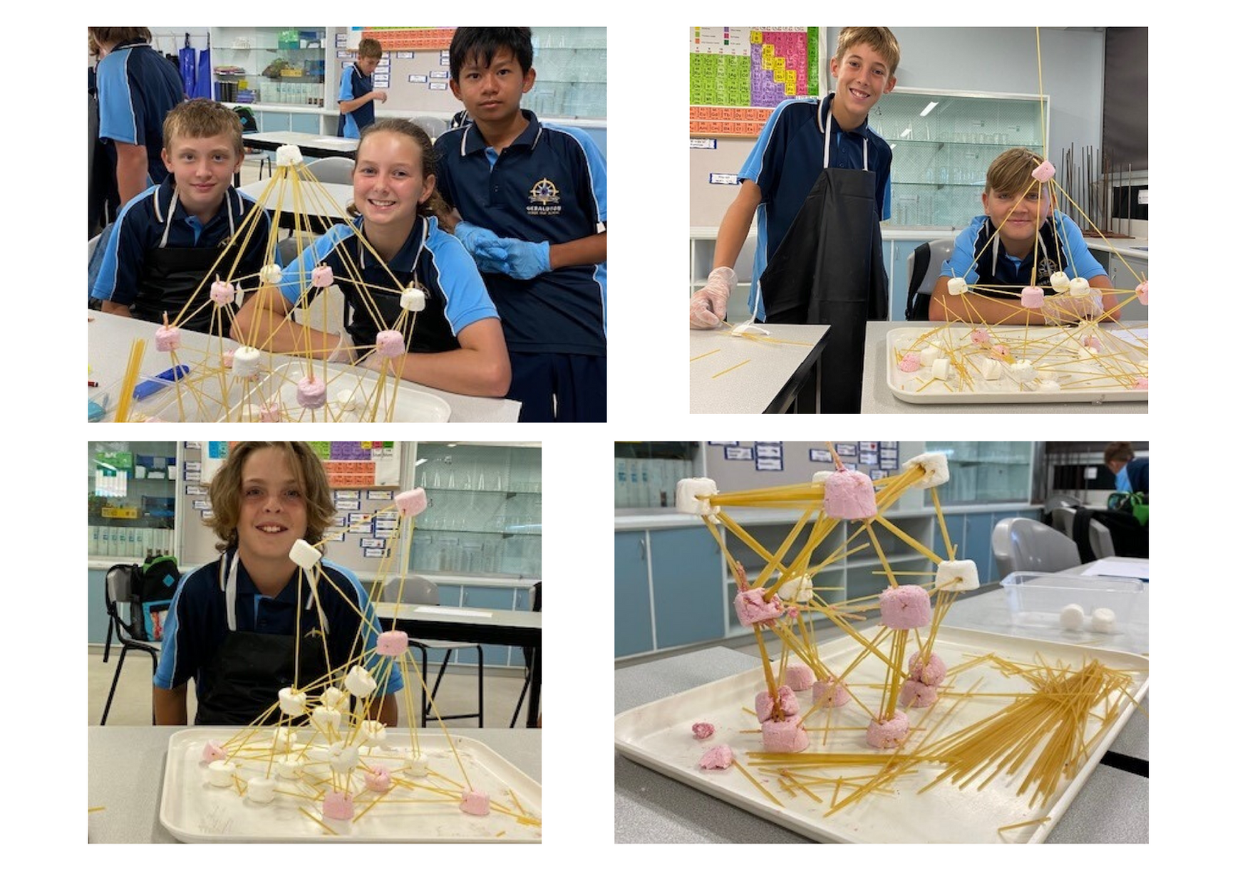 Y7 STEM Activity - marshmallow earthquake structure
