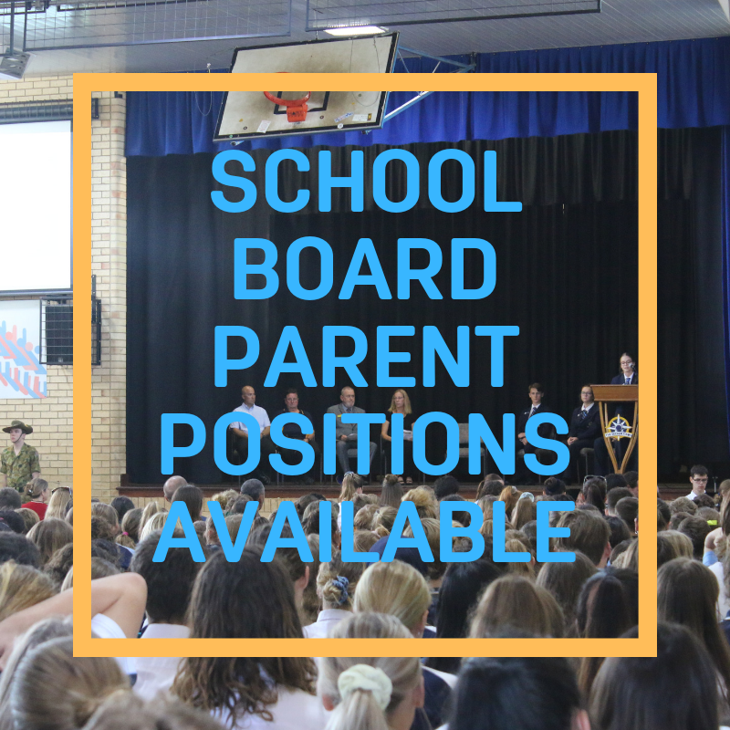 SCHOOL BOARD PARENT POSITIONS AVAILABLE